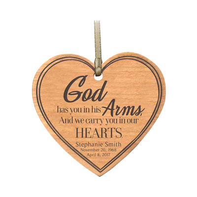 LifeSong Milestones Personalized Memorial Heart Ornament God Has You Bereavement Keepsake Ornament Loss of Loved One Sympathy Home Decor