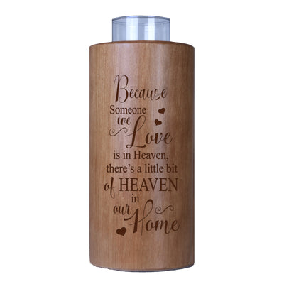 LifeSong Milestones Personalized Memorial Votive Candle Holder 8in (Because Someone We Love) In Loving Memory Tealight Candle Gift for Loss of Loved One Funeral Remembrance. ✓SIZE: 4x4x8 candle hole measures 2in wide and 1.75in deep.