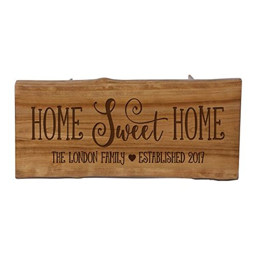 "LifeSong Milestones LifeSong Home Live Edge Cherry Handcrafted Home Decor Step Stool Housewarming gift ideas for new Home decorations 8 3/4"" w x 16"" L"