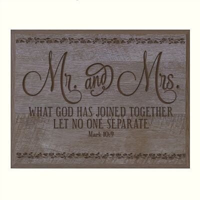 Personalized Wedding Anniversary Plaque - Mr. & Mrs..