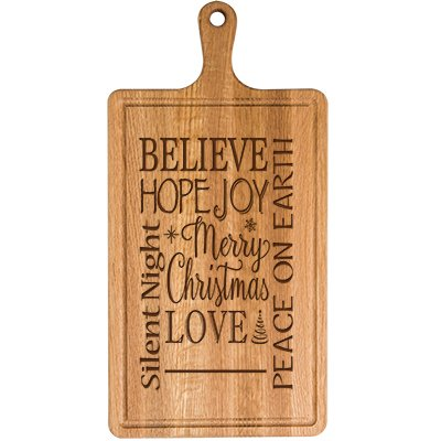 Personalized Christmas Cherry Cutting Board