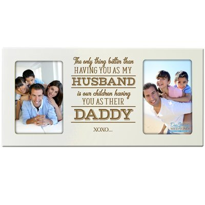 father's day gift picture double frame for dad photo frame foto
