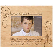 Baptism Photo Frame - May Jesus Live Within You - Holds 4x6 Photo