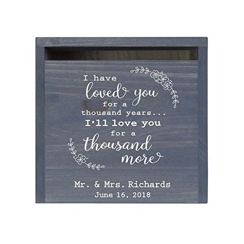 LifeSong Milestones Personalized I Have Loved You Rustic Wedding Custom Card Box with Front Slot