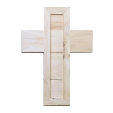 Pine Wood Digitally Printed Wall Decor Cross - Be Strong