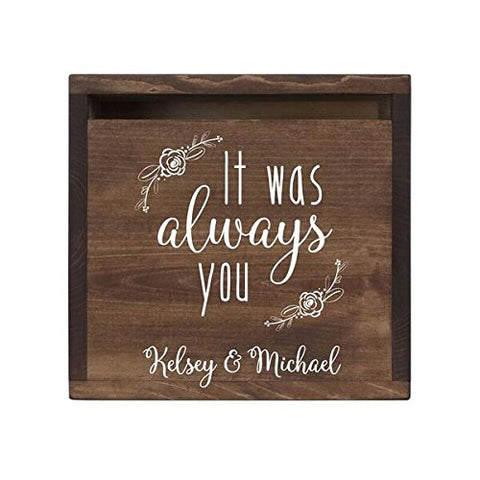 Personalized It Was Always You Wedding Card Box