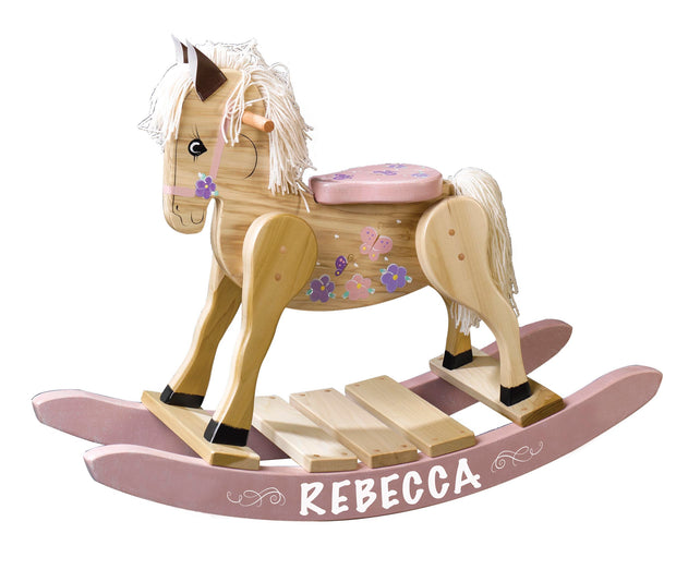 Personalized Wooden Rocking Horse for Boys and Girls