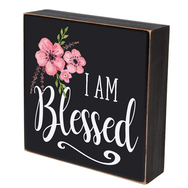 "I am blessed wall art decor Print sign Decoration 6""x 6"" (I Am Blessed)"