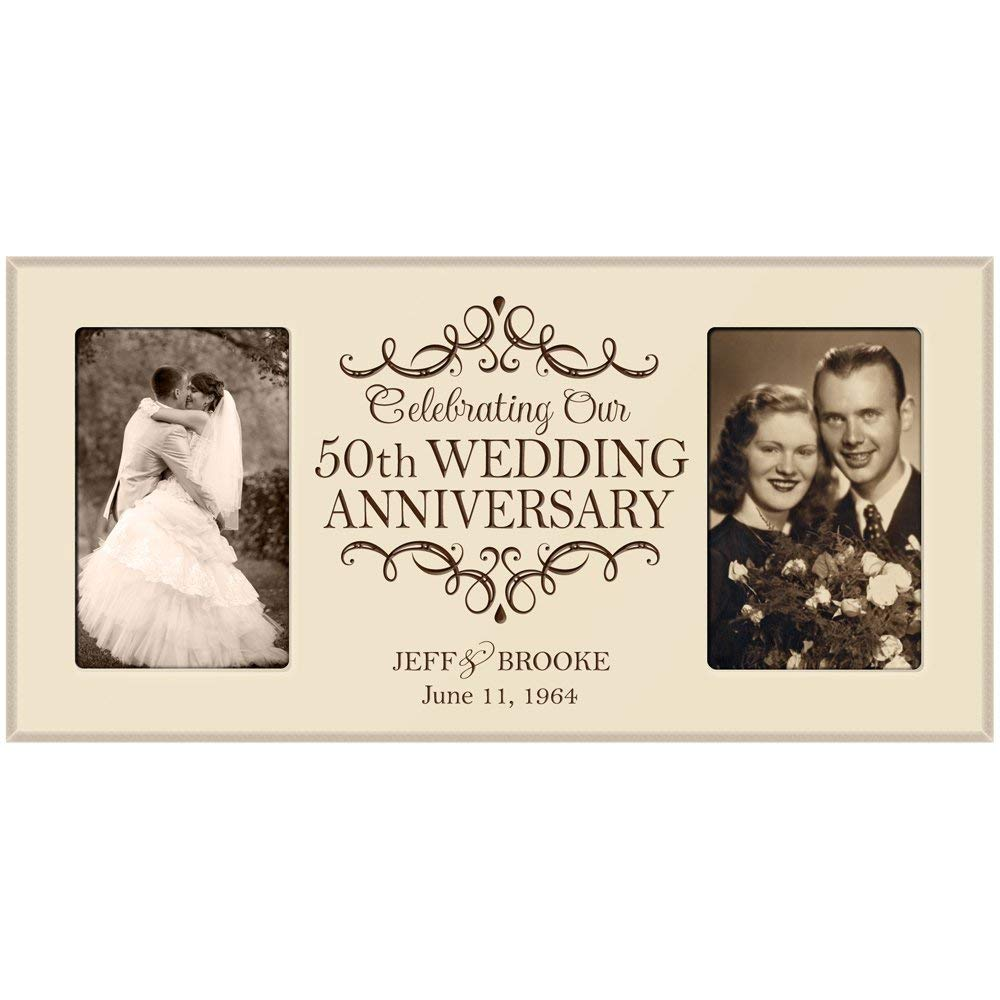 50th Anniversary Picture Frame Gift Personalized 50th Wedding