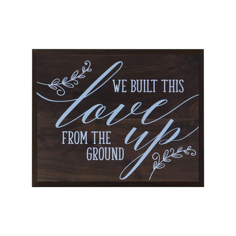 "12"" x 15"" x .75"" Wall Plaque Decor - We Built This"
