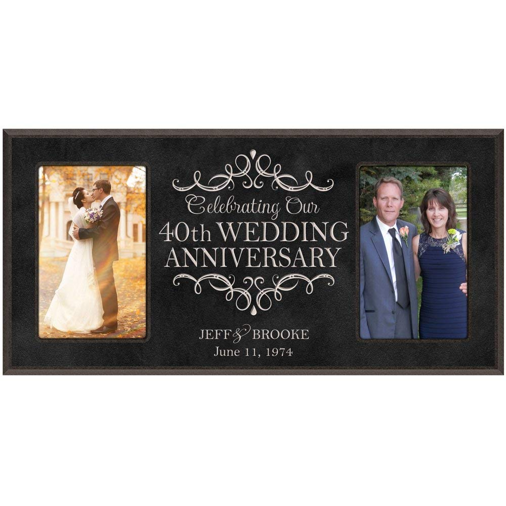 Gift For 40th Wedding Anniversary: Personalized 40th Wedding Anniversary Picture Frame Gift