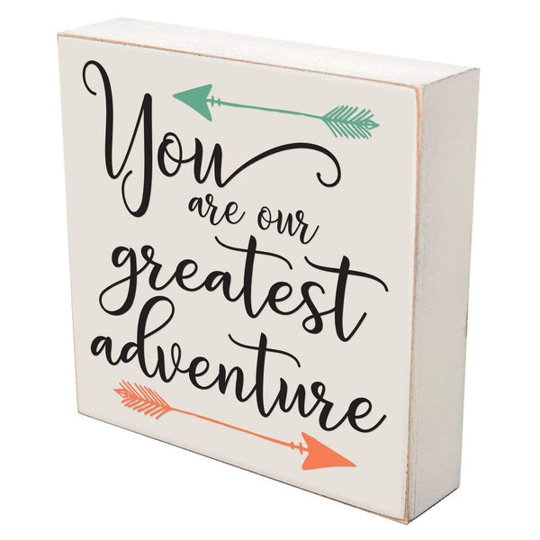 Digitally Printed Shadow Box Wall Decor - Our Greatest Adventure