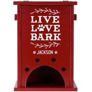 Personalized Pet Toy Box - Live Love Bark Red