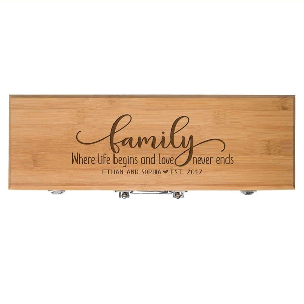 Personalized Family Engraved 3pc Barbecue Gift Set