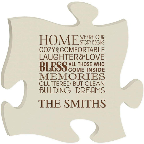 Personalized Puzzle Custom Laser Engraved Home where our story begins (made in USA)