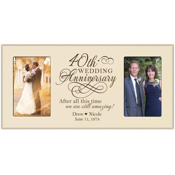 40th Wedding Anniversary Gift Personalized Picture Frame