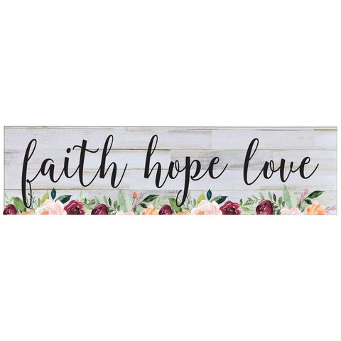 Faith Hope Love wall art decor Print decoration sign Gift for livingroom entryway kitchen bedroom By LifeSong Milestones