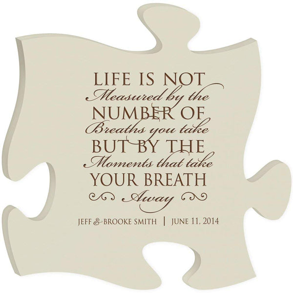 Personalized Custom Engraved Puzzle Sign - Life Is Not Measured By The Number Of Breaths You Take
