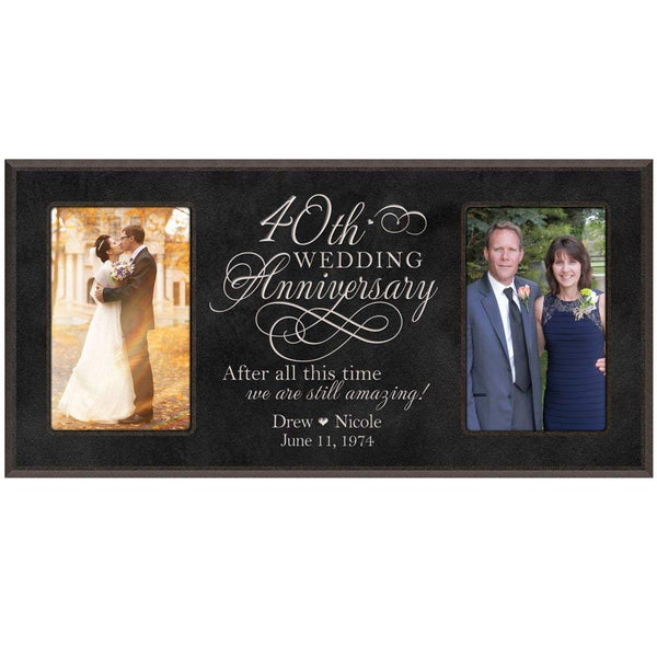 40th Wedding Anniversary Photo Frame - Personalized