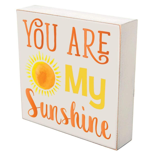Digitally Printed Shadow Box Wall Decor - You Are My Sunshine