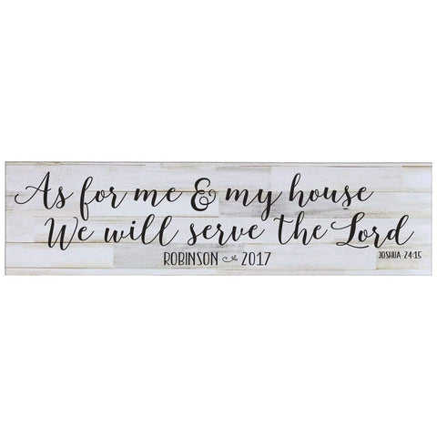 Personalized Home Decor Wall Plaques - Distressed White As For Me And My House