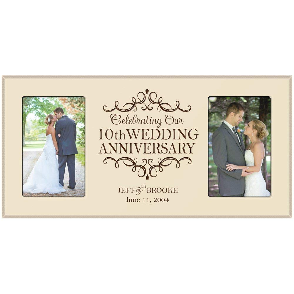 10th Anniversary Picture frame Gift Personalized 10th wedding ...