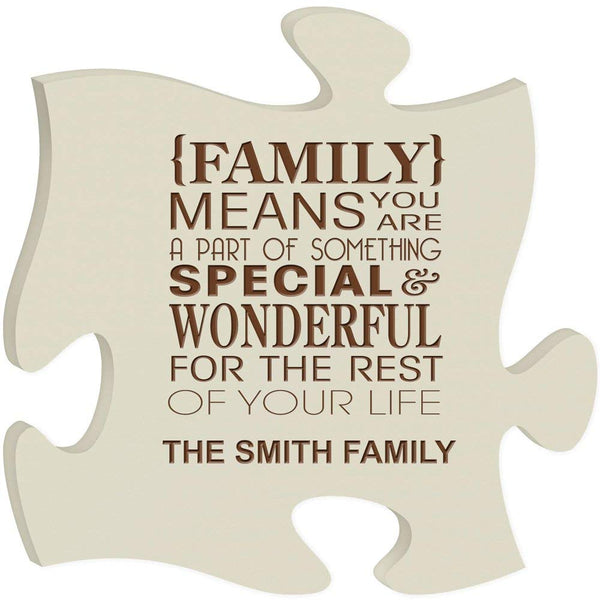 Personalized Family Puzzle Custom Laser Engraved Family Means You Are a Part of Something Special and Wonderful for the Rest of Your Life with Name (Made in USA)