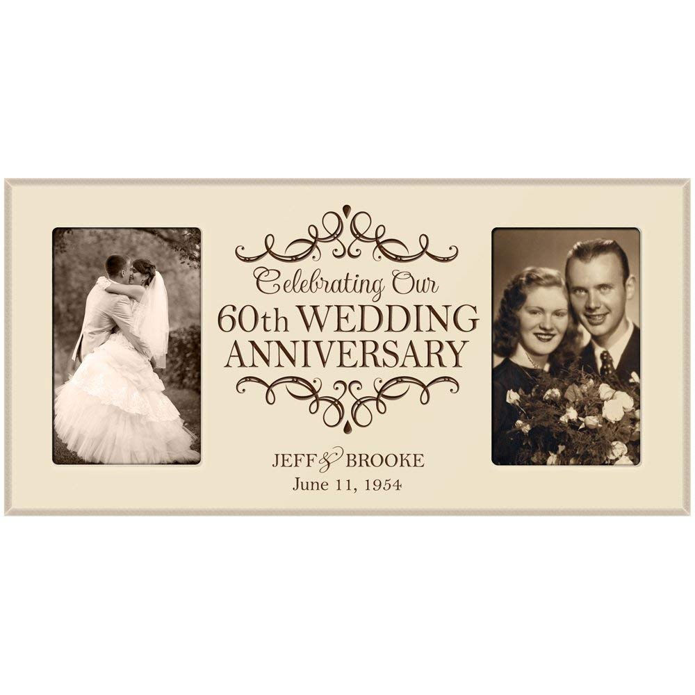 60th Anniversary Picture Frame Gift Personalized Wedding Rh Lifesongmilestones Com Gifts For Couples