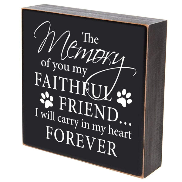 Pet Memorial Shadow Box - The Memory of a Faithful Friend
