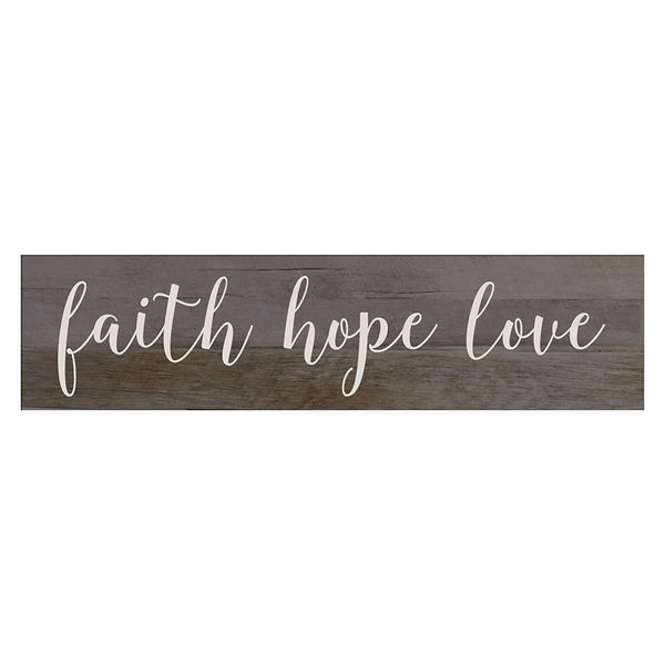 Barnwood Sign Wall Art Family Gift Faith Hope Love