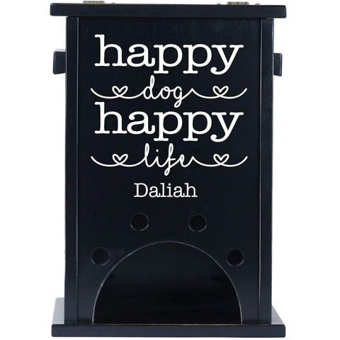 Personalized Pet Toy Box - Happy Dog Happy Life