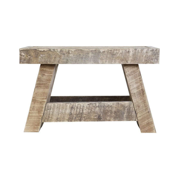 "LifeSong Milestones Reclaimed Oak Handcrafted Home Decor Step Stool 11"" w x 15.75"" L"