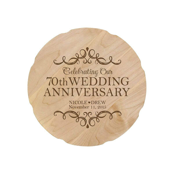 70th Wedding Anniversary.Personalized 70th Anniversary Decorative Plate With Names And Date