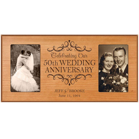 Personalized 50th Anniversary Picture Frame Gift
