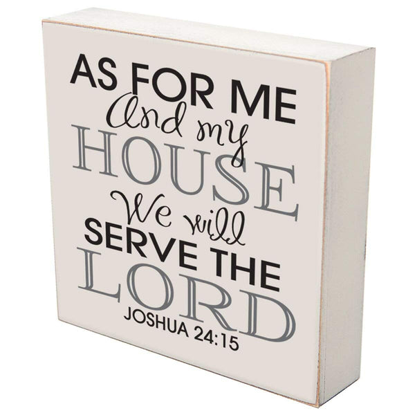 Wedding Anniversary Shadow Box Gift - We Will Serve The Lord