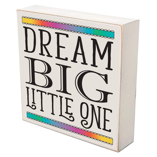 "Dream Big Little One wall art decor Print sign Decoration 6"" x 6"" (Dream Big Little One)"
