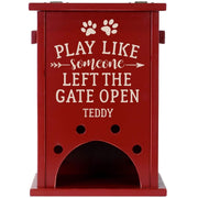 Personalized Pine Pet Toy Box - Play Like Someone Red