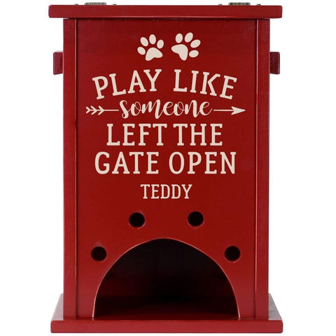 Personalized Pine Pet Toy Box - Play Like Someone