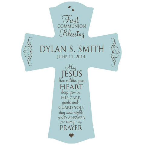 First Holy Communion Wall Cross Personalized Blessing