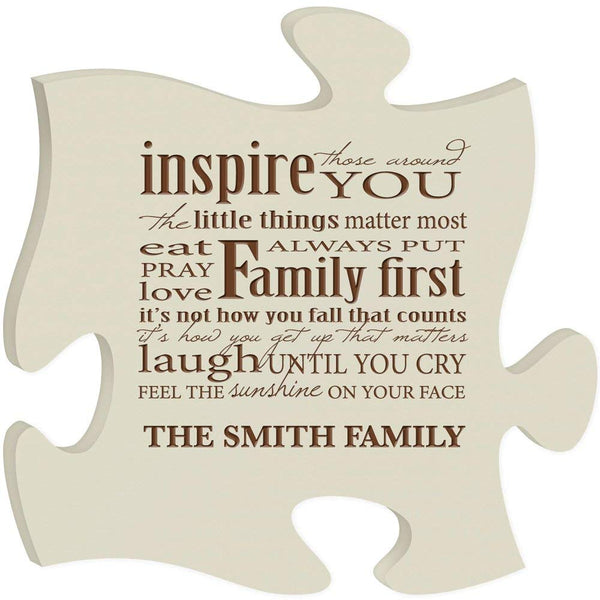 Personalized Custom Engraved Puzzle Sign - Inspire Those Around You The Little Things Matter Most