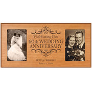 Personalized 60th Wedding Anniversary Picture frame Gift