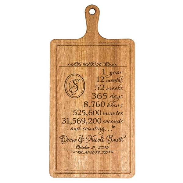 Personalized 1st Anniversary Cutting Board - Counting
