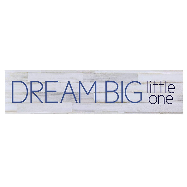 LifeSong Milestones Dream Big Little One Baby Boys Wall Art Decorative Sign Bedroom Nursery Decor