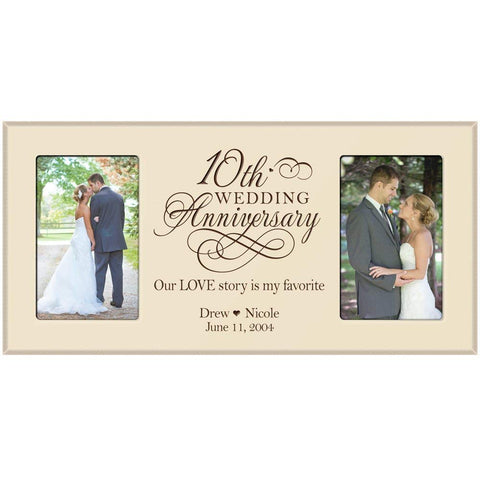 Custom 10th Anniversary Picture Frame - Ivory