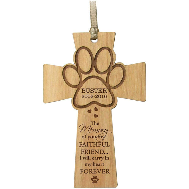 personalized wooden memorial memory pet dog cat cross