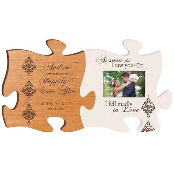Personalized Wedding Picture Frame And so Together They Lived Happily Ever After As Soon As I Saw You I Fell Madly in Love Holds 4x6 Photo