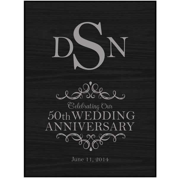 Personalized 50th Wedding Anniversary Wall Plaque
