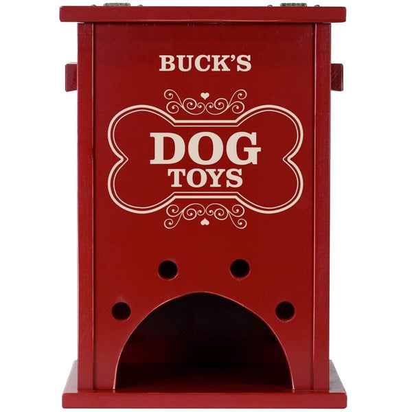 Personalized Pet Toy Box Red - Dog Toys
