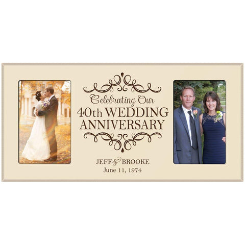 Personalized 40th Wedding Anniversary Picture Frame Gift