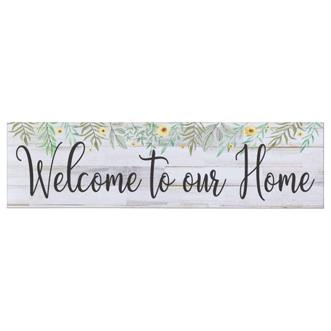 Welcome To Our Home Floral Wall Sign Plaque